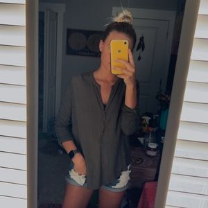 Lucky Brand Button Up Tunic